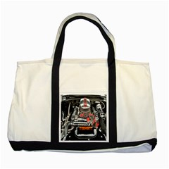 Car Engine Two Tone Tote Bag