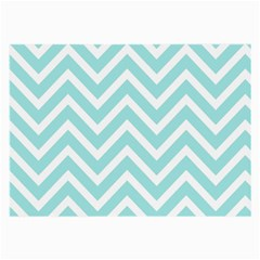 Chevrons Zigzags Pattern Blue Large Glasses Cloth