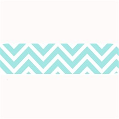Chevrons Zigzags Pattern Blue Large Bar Mats