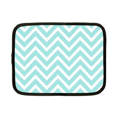 Chevrons Zigzags Pattern Blue Netbook Case (Small)