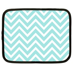Chevrons Zigzags Pattern Blue Netbook Case (XL)