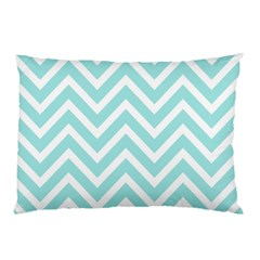 Chevrons Zigzags Pattern Blue Pillow Case (Two Sides)