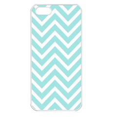 Chevrons Zigzags Pattern Blue Apple iPhone 5 Seamless Case (White)