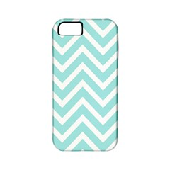 Chevrons Zigzags Pattern Blue Apple iPhone 5 Classic Hardshell Case (PC+Silicone)
