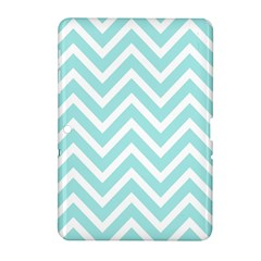 Chevrons Zigzags Pattern Blue Samsung Galaxy Tab 2 (10.1 ) P5100 Hardshell Case