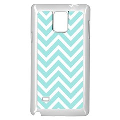 Chevrons Zigzags Pattern Blue Samsung Galaxy Note 4 Case (White)