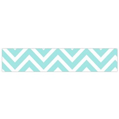 Chevrons Zigzags Pattern Blue Flano Scarf (Small)
