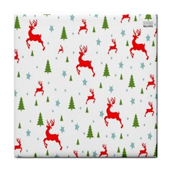 Christmas Pattern Tile Coasters