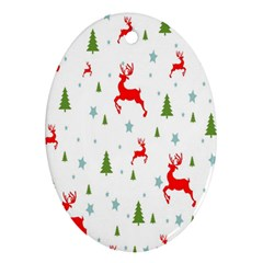 Christmas Pattern Ornament (Oval)