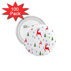 Christmas Pattern 1.75  Buttons (100 pack)