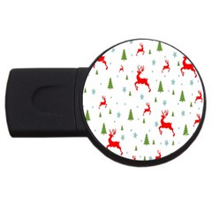 Christmas Pattern USB Flash Drive Round (4 GB)