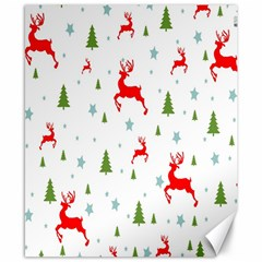Christmas Pattern Canvas 8  x 10