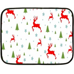 Christmas Pattern Double Sided Fleece Blanket (mini)