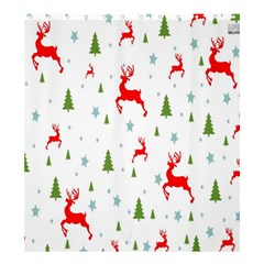 Christmas Pattern Shower Curtain 66  x 72  (Large)