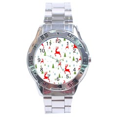 Christmas Pattern Stainless Steel Analogue Watch