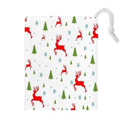 Christmas Pattern Drawstring Pouches (Extra Large)