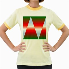Christmas Pattern Women s Fitted Ringer T-Shirts