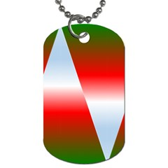 Christmas Pattern Dog Tag (One Side)