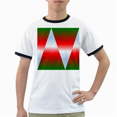Christmas Pattern Ringer T-Shirts