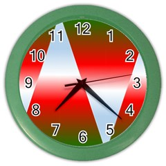 Christmas Pattern Color Wall Clocks