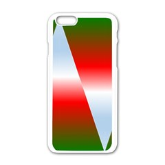 Christmas Pattern Apple iPhone 6/6S White Enamel Case