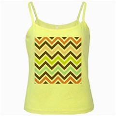Chevrons Stripes Colors Background Yellow Spaghetti Tank