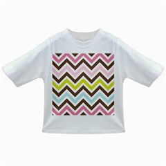 Chevrons Stripes Colors Background Infant/Toddler T-Shirts