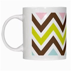 Chevrons Stripes Colors Background White Mugs