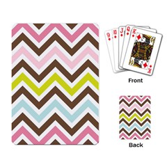Chevrons Stripes Colors Background Playing Card