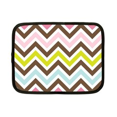 Chevrons Stripes Colors Background Netbook Case (Small)