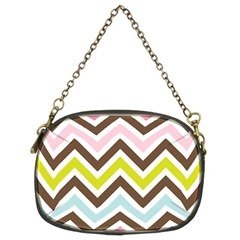 Chevrons Stripes Colors Background Chain Purses (Two Sides)
