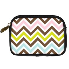 Chevrons Stripes Colors Background Digital Camera Cases