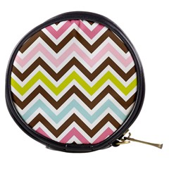 Chevrons Stripes Colors Background Mini Makeup Bags