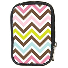 Chevrons Stripes Colors Background Compact Camera Cases