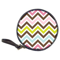Chevrons Stripes Colors Background Classic 20-CD Wallets
