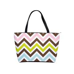 Chevrons Stripes Colors Background Shoulder Handbags