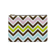 Chevrons Stripes Colors Background Cosmetic Bag (Medium)