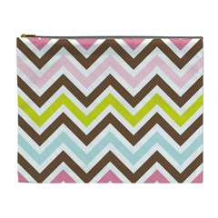 Chevrons Stripes Colors Background Cosmetic Bag (XL)