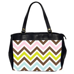 Chevrons Stripes Colors Background Office Handbags (2 Sides)