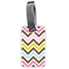 Chevrons Stripes Colors Background Luggage Tags (Two Sides)