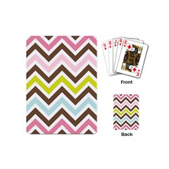 Chevrons Stripes Colors Background Playing Cards (Mini)