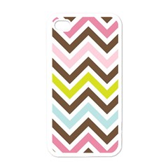 Chevrons Stripes Colors Background Apple iPhone 4 Case (White)