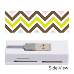 Chevrons Stripes Colors Background Memory Card Reader (Stick)
