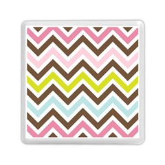 Chevrons Stripes Colors Background Memory Card Reader (Square)