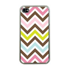 Chevrons Stripes Colors Background Apple iPhone 4 Case (Clear)