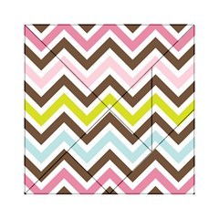 Chevrons Stripes Colors Background Acrylic Tangram Puzzle (6  x 6 )