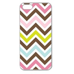 Chevrons Stripes Colors Background Apple Seamless iPhone 5 Case (Clear)