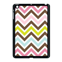 Chevrons Stripes Colors Background Apple iPad Mini Case (Black)