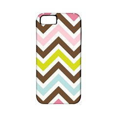 Chevrons Stripes Colors Background Apple iPhone 5 Classic Hardshell Case (PC+Silicone)