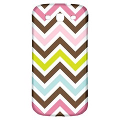 Chevrons Stripes Colors Background Samsung Galaxy S3 S III Classic Hardshell Back Case